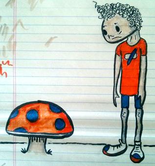 a boy and his mushroom