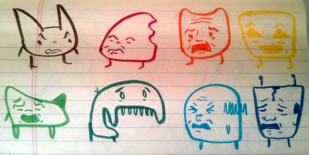 close up of small creatures emoting