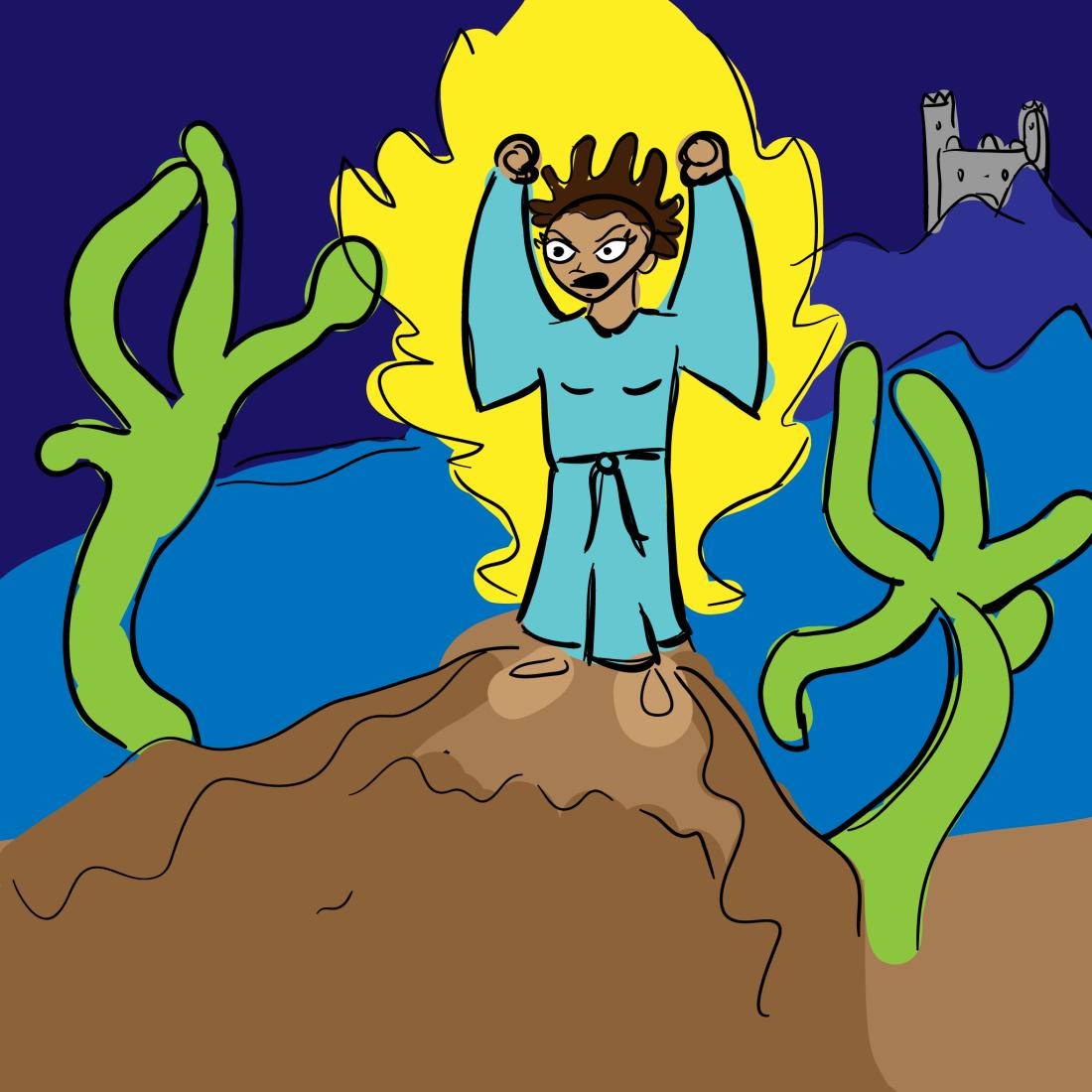 sketch: cliffside sorcery