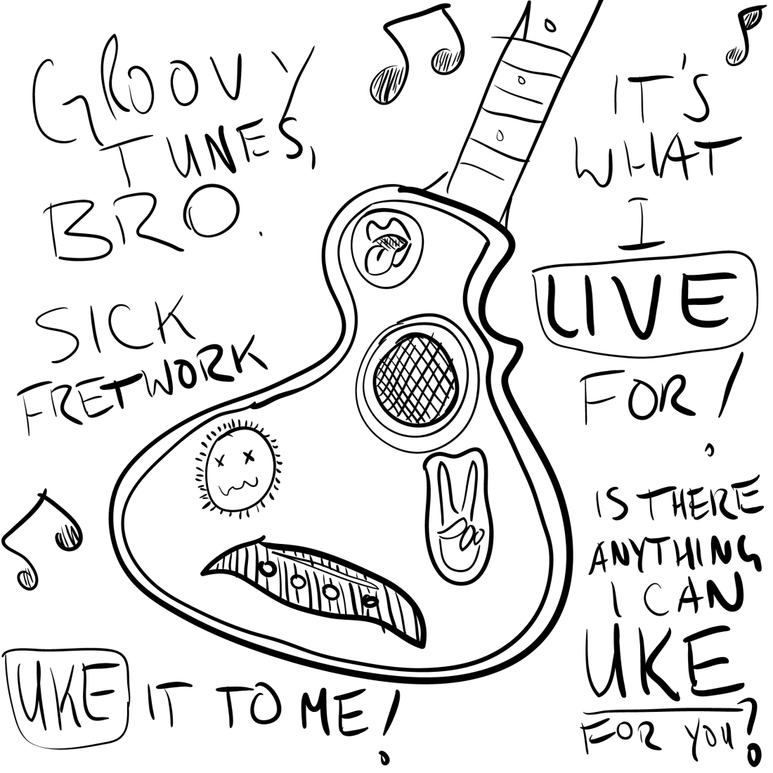 sketch: uke it to me