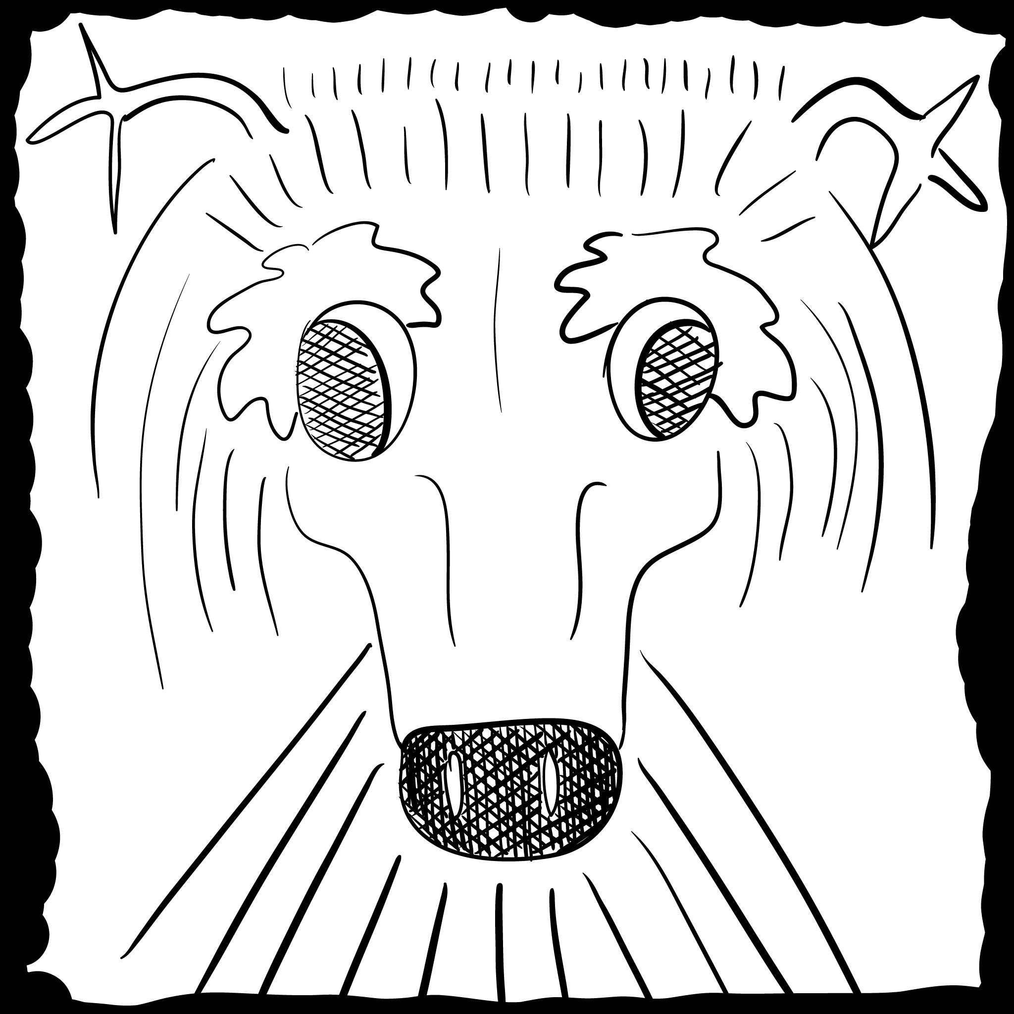 a weird elk-like thing, sorta culty in appearance